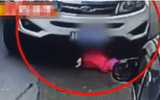 Video: Thót tim bé gái 2 tuổi may mắn sống sót sau khi bị ô tô chèn qua người