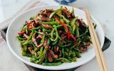 Món ngon mỗi ngày: Biến tấu thịt bò xào ớt chuông lạ mắt