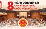 [Infographic]: 8 thành công nổi bật của kỳ họp thứ 6, Quốc hội khóa XIV