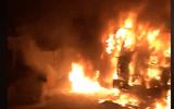 Tin tức thời sự 24h mới nhất ngày 26/11/2018: Xe đầu kéo bốc cháy dữ dội khi đang bị CSGT xử lý trong đêm