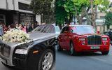 """Dàn siêu xe """"gây choáng"""" trong lễ rước dâu của Á hậu Thanh Tú"""