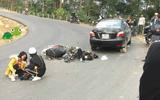 Cặp đôi phượt thủ đổ đèo bằng xe máy ở Tam Đảo suýt rơi xuống vực