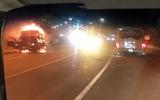 Xe tải bỗng nhiên bốc cháy trên đường dẫn vào hầm Hải Vân