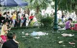 Hà Nội: Xử phạt việc xả rác, giẫm đạp thảm cỏ vườn hoa