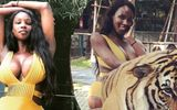 Tân Hoa hậu chuyển giới bị lên án vì diện bikini chụp hình với hổ