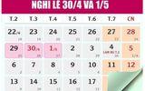 Dịp Giỗ tổ Hùng Vương và lễ 30/4-1/5, người lao động được nghỉ mấy ngày?