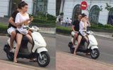 """Hồ Ngọc Hà """"tái phạm"""" lỗi không đội mũ bảo hiểm khi đi xe máy cùng Kim Lý"""