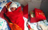 Cán bộ xã bàng hoàng phát hiện bé gái 1,3kg bị bỏ rơi trước cửa nhà