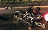 Hai cảnh sát cơ động nhập viện cấp cứu khi đuổi bắt xe máy kẹp 3 người