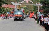 98 hài cốt liệt sĩ hy sinh trên nước bạn Lào được đưa về đất mẹ an táng
