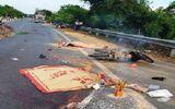 Ô tô tải tông xe máy, 2 người tử vong tại chỗ