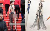 """Người trong cuộc - LHP Cannes 2019: Ngọc Trinh diện váy """"như có như không"""" lên thảm đỏ, NTK nói gì?"""