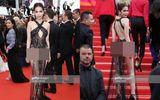 """Tin tức giải trí - Ngọc Trinh lộ vòng 3 phản cảm như """"trò lố"""" trên thảm đỏ LHP Cannes 2019"""