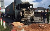 Xe container tông liên hoàn 3 phương tiện rồi bốc cháy, 1 người tử vong