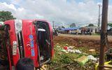Đứng xem tai nạn, người đàn ông 70 tuổi bị xe khách lật nghiêng đè tử vong