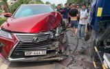Tin trong nước - Tin tức tai nạn giao thông mới nhất hôm nay 17/7/2019: Đi vào làn xe buýt, Lexus và xe bồn tông nhau