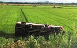 Tin trong nước - Xe buýt lao xuống ruộng ở Nghệ An, một phụ nữ tử vong tại chỗ