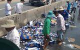 Việc tốt quanh ta - Không hôi của, người dân Long An giúp tài xế gom bia đổ ra đường