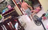 Chồng vũ phu thẳng tay đánh vợ đang bế con nhỏ khiến dân mạng dậy sóng