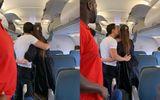 Hồ Ngọc Hà và Kim Lý công khai ôm hôn thắm thiết trên máy bay