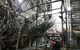 Vụ sập giàn giáo khiến 5 công nhân bị thương: Đình chỉ công trình phục vụ điều tra