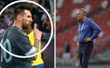 """Messi ra hiệu """"Im đi"""" với HLV trưởng ĐT Brazil"""