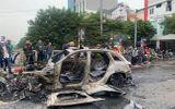 Hiện trường xe Mercedes bốc cháy sau tai nạn liên hoàn, 1 người tử vong tại chỗ