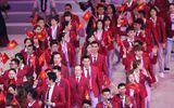 Phần diễu hành của đoàn thể thao Việt Nam trong lễ khai mạc SEA Games 30