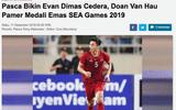 Báo Indonesia: Văn Hậu cố tình chơi xấu với Evan Dimas