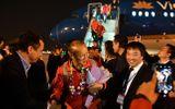 Tin trong nước - Những hình ảnh đầu tiên về các cầu thủ U22 Việt Nam tại sân bay Nội Bài