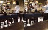 """Xôn xao clip """"hotgirl"""" đập bàn đòi đuổi việc phục vụ vì """"đĩa rau có hành"""""""