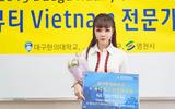 Hoa hậu Hà Thu Trang được Đại học Y Daegu Haany, Hàn Quốc bổ nhiệm chức giáo sư