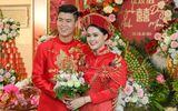 Duy Mạnh - Quỳnh Anh xúng xính áo dài đỏ rạng rỡ trong đám hỏi, dàn cầu thủ HAGL đến chúc mừng