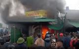 Nghệ An: Cháy lớn tại chợ huyện Phủ Diễn chiều mồng 4 Tết