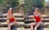 Tin tức giải trí - Hoa hậu Kỳ Duyên diện bikini đỏ rực khoe dáng quyến rũ ở Đà Lạt