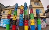 Ăn - Chơi - Video: Chiêm ngưỡng con đường nghệ thuật được làm từ rác thải
