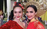 Tin tức giải trí - Quốc phục đỏ rực, đầy quyền lực của Hoài Sa ở Hoa hậu Chuyển giới Quốc tế 2020