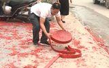 Vụ đốt pháo đỏ đường trong đám cưới ở Hà Nội: Triệu tập một số người