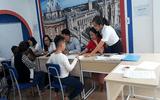 Hơn 80 học sinh tham gia sinh trắc vân tay tại Trung tâm tiếng anh Popy Vĩnh Yên