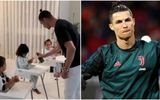 """Cristiano Ronaldo gây """"choáng váng"""" với hình ảnh ở nhà trông con mùa dịch Covid-19"""