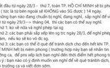 Bác thông tin TP.HCM phong tỏa trong 14 ngày vì dịch Covid-19