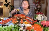 Giải trí - Choáng với mâm hải sản siêu to khổng lồ mừng kênh Youtube đạt 3 triệu sub của Quỳnh Trần JP
