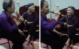 """Video: Cụ bà U90 hát karaoke khiến ai cũng phải """"dè chừng"""" vì chất giọng quá """"chất"""""""