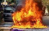 Tin trong nước - Thanh Hóa: Ô tô biển số VIP 5678 bất ngờ bốc cháy dữ dội đúng ngày đăng kiểm