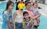 """Ngọc Trinh chụp ảnh gia đình mà bị 1 nhân vật """"lấn át"""", dân mạng cảm thán """"nữ hoàng nội y cũng có ngày này"""""""