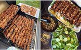 Ăn - Chơi - Hà Nội mưa mát mẻ, quá hợp để cả nhà thưởng thức món thịt xiên nướng thơm ngon