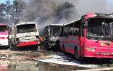 Tin trong nước - Thanh Hóa: Cháy lớn thiêu rụi 6 ô tô chở công nhân