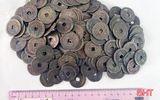 Vụ đào được gần 100 kg tiền xu cổ: Mặt trước đồng tiền có 4 chữ Hán, mặt sau có chữ Hán Thập Văn