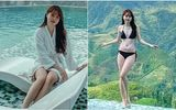 """Huỳnh Anh khoe chân dài nuột nà bên bể bơi, không quên dằn mặt khiến anti-fan """"chột dạ"""""""