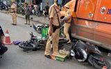Tin trong nước - Hiện trường vụ xe đầu kéo húc văng 7 xe máy đang chờ đèn đỏ trên phố
